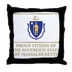 Massachusetts Proud Citizen Throw Pillow