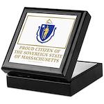 Massachusetts Proud Citizen Keepsake Box