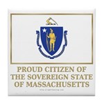 Massachusetts Proud Citizen Tile Coaster