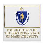 Massachusetts Proud Citizen Tile Coaster
