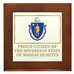 Massachusetts Proud Citizen Framed Tile