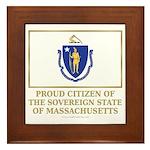 Massachusetts Proud Citizen Framed Tile
