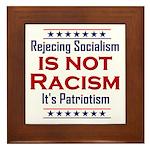 Rejecting Socialism Framed Tile