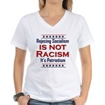Rejecting Socialism Women's V-Neck T-Shirt
