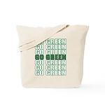 Go Green Reusable Canvas Tote Bag