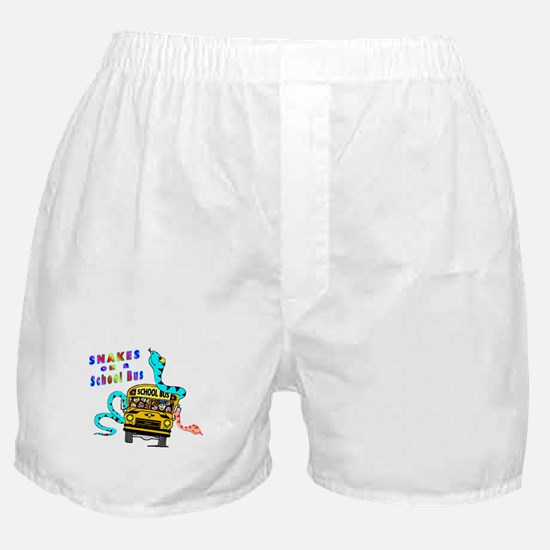 Snakes on a School Bus Boxer Shorts