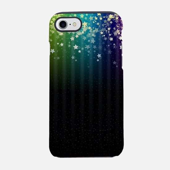 Colorful Space Rainbow Stars iPhone 7 Tough Case