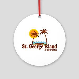 St. George Island FL Ornament (Round)