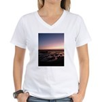 Lincoln City Sunset Women's V-Neck T-Shirt