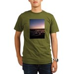 Lincoln City Sunset Organic Men's T-Shirt (dark)
