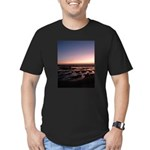 Lincoln City Sunset Men's Fitted T-Shirt (dark)