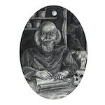 Wicked Wizard Oval Ornament