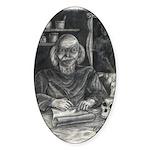 Wicked Wizard Oval Sticker (50 pk)