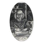 Wicked Wizard Oval Sticker