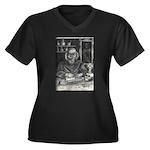 Wicked Wizard Women's Plus Size V-Neck Dark T-Shir
