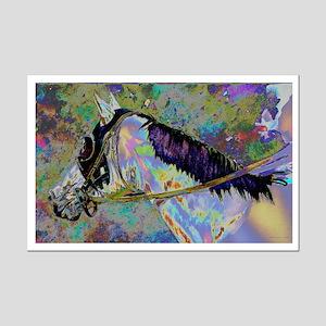 """Rainbow Runner"" Mini Poster Print"