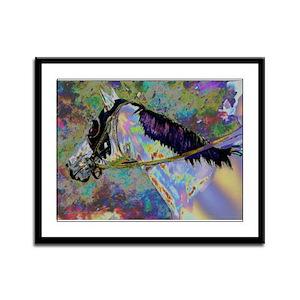 """""""Rainbow Runner"""" Framed Panel Print"""
