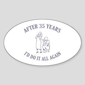 35th Oval Sticker