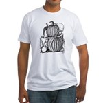 Pumpkin and mouse Fitted T-Shirt