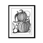 Pumpkin and mouse Framed Panel Print