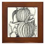 Pumpkin and mouse Framed Tile