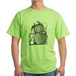 Pumpkin and mouse Green T-Shirt