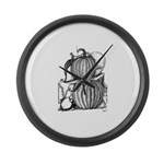 Pumpkin and mouse Large Wall Clock