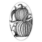 Pumpkin and mouse Oval Sticker