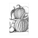 Pumpkin and mouse Rectangle Sticker 50 pk)