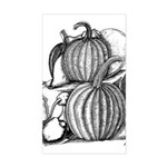 Pumpkin and mouse Rectangle Sticker