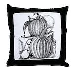Pumpkin and mouse Throw Pillow