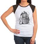 Pumpkin and mouse Women's Cap Sleeve T-Shirt