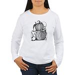 Pumpkin and mouse Women's Long Sleeve T-Shirt