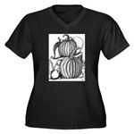 Pumpkin and mouse Women's Plus Size V-Neck Dark T-