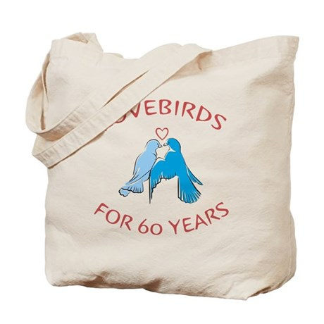 60th Lovebirds Tote Bag