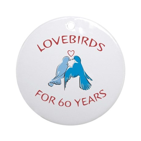 60th Lovebirds Ornament (Round)