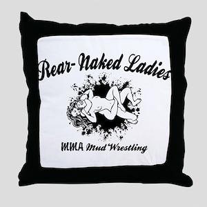 Rear Naked Ladies Throw Pillow