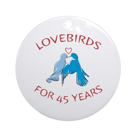 45th Lovebirds Ornament (Round)