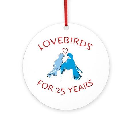 25th Lovebirds Ornament (Round)