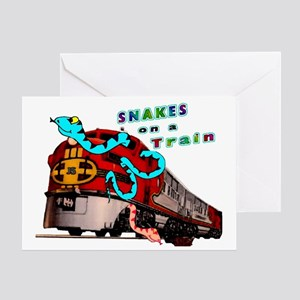 Snakes on a Train Greeting Card
