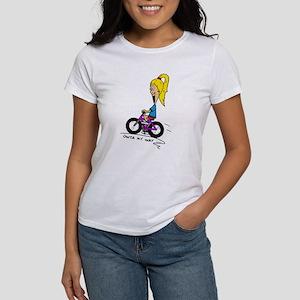 Chloe Riding Bike Women's T-Shirt