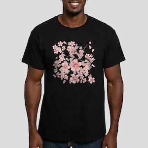 Cherry blossoms Men's Fitted T-Shirt (dark)