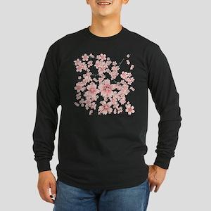 Cherry blossoms Long Sleeve Dark T-Shirt