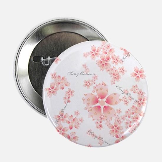 "Cherry blossoms 2.25"" Button"