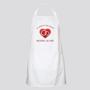 40th Heart Rings BBQ Apron