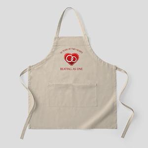 25th Heart Rings BBQ Apron
