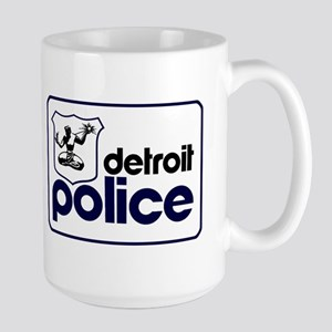 Old Detroit Police Logo Mugs