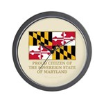Maryland Proud Citizen Wall Clock