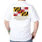 Maryland Proud Citizen Golf Shirt