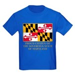 Maryland Proud Citizen Kids Dark T-Shirt